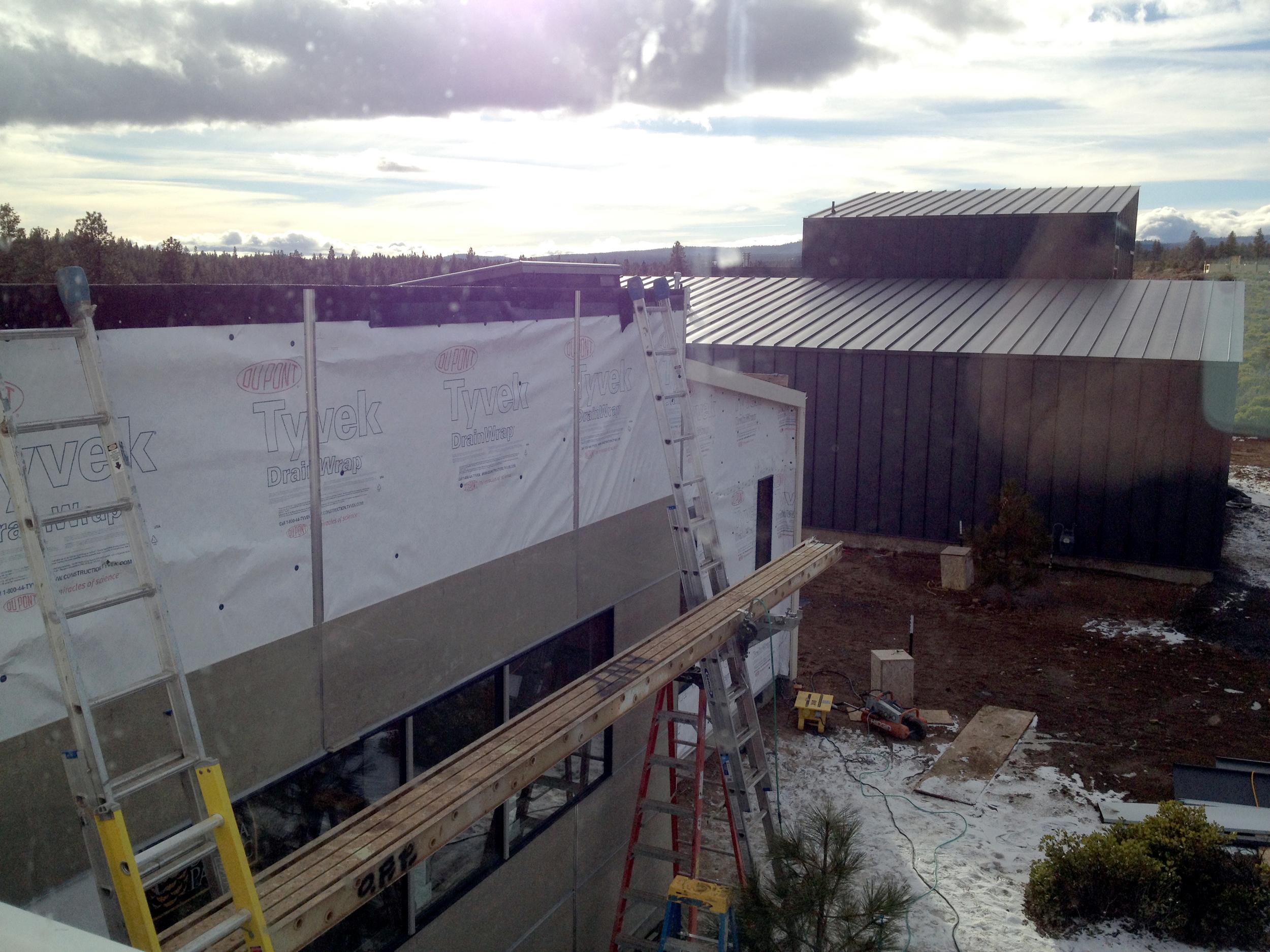 Fiber cement install in-progress
