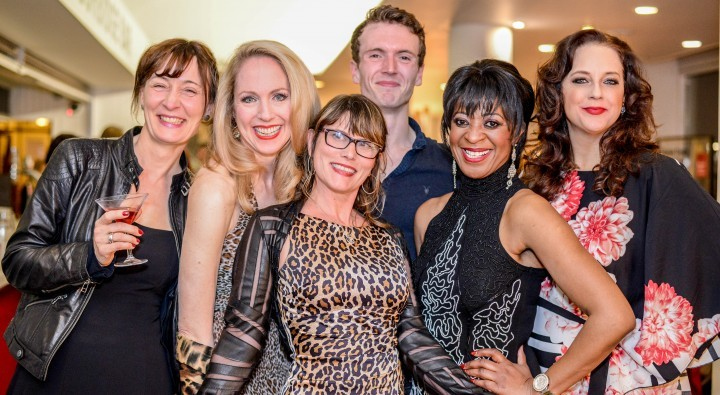 Press night with Patricia Benecke, me, Donna Moore, Barnaby Hughes, Dawn Hope and Suanne Braun.