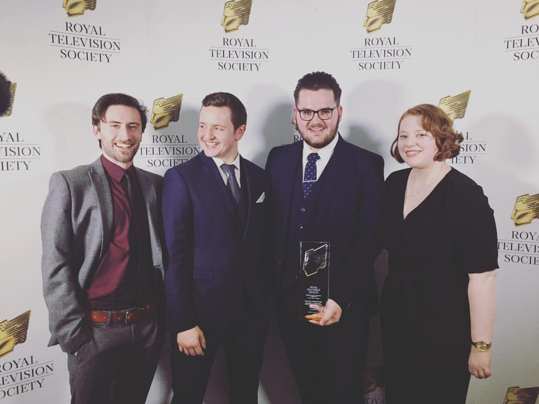 Michael Kennedy, Craig Busek, Luke Shelley and Sophie Stacey - the creatives behind FEAR THE UNKNOWN MEN