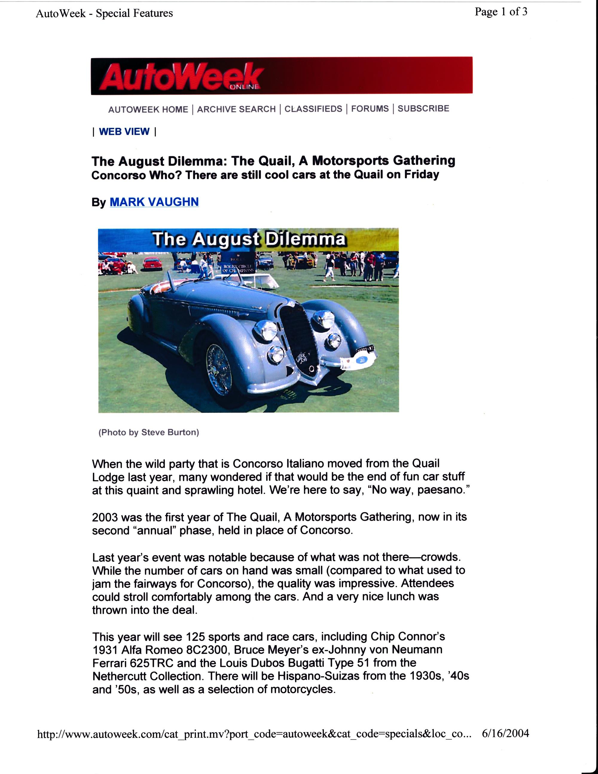 Quail Motorsports Gathering