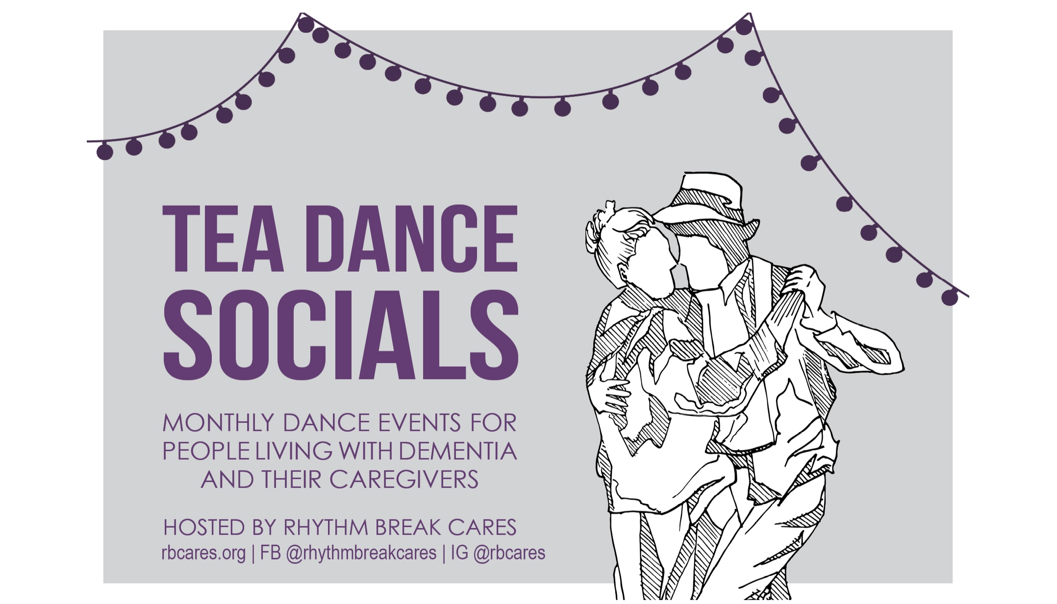 Dance with us to #EndAlz! - NEXT DANCE // Wed OCT 16 & NOV 13 at 1261 Broadway, Suite 309. FREE (suggested donation $10-$15)!Email us to RSVP: rbcares@gmail.com