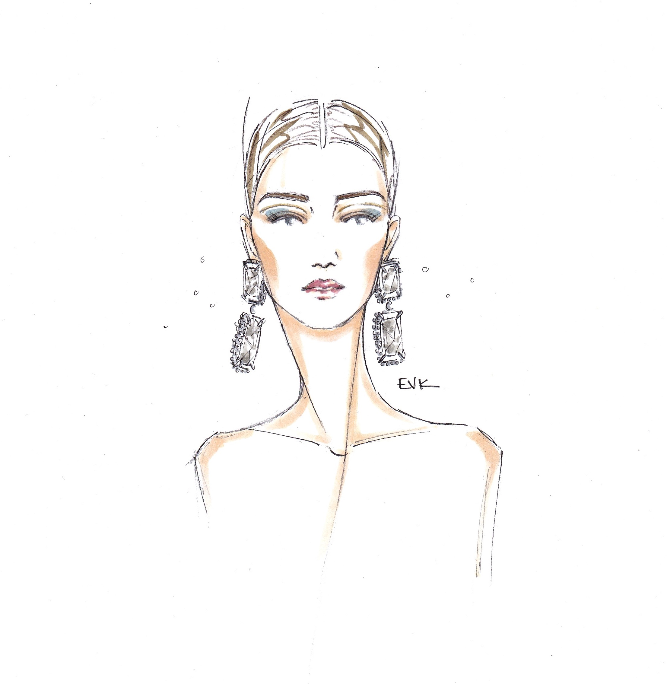 Serious Earrings + Diana Moldovan – Armani Prive Spring 15 Couture (2015)