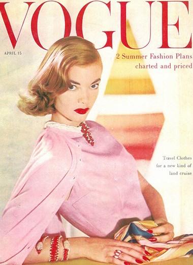 Pringles on American Vogue, 1955