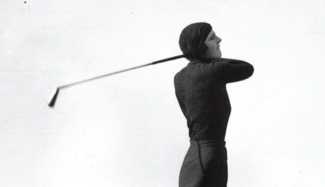 Gloria Minoprio at the Ladies' Close Championship, Westward Ho! (1933)