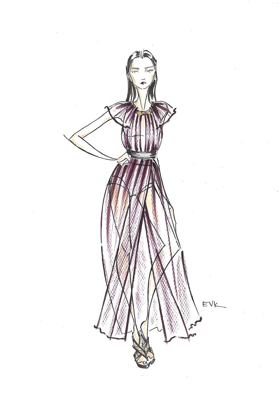 """Irina Djuranovic + Bordeaux Colored Burberry - Burberry Prorsum SS16 RTW"""