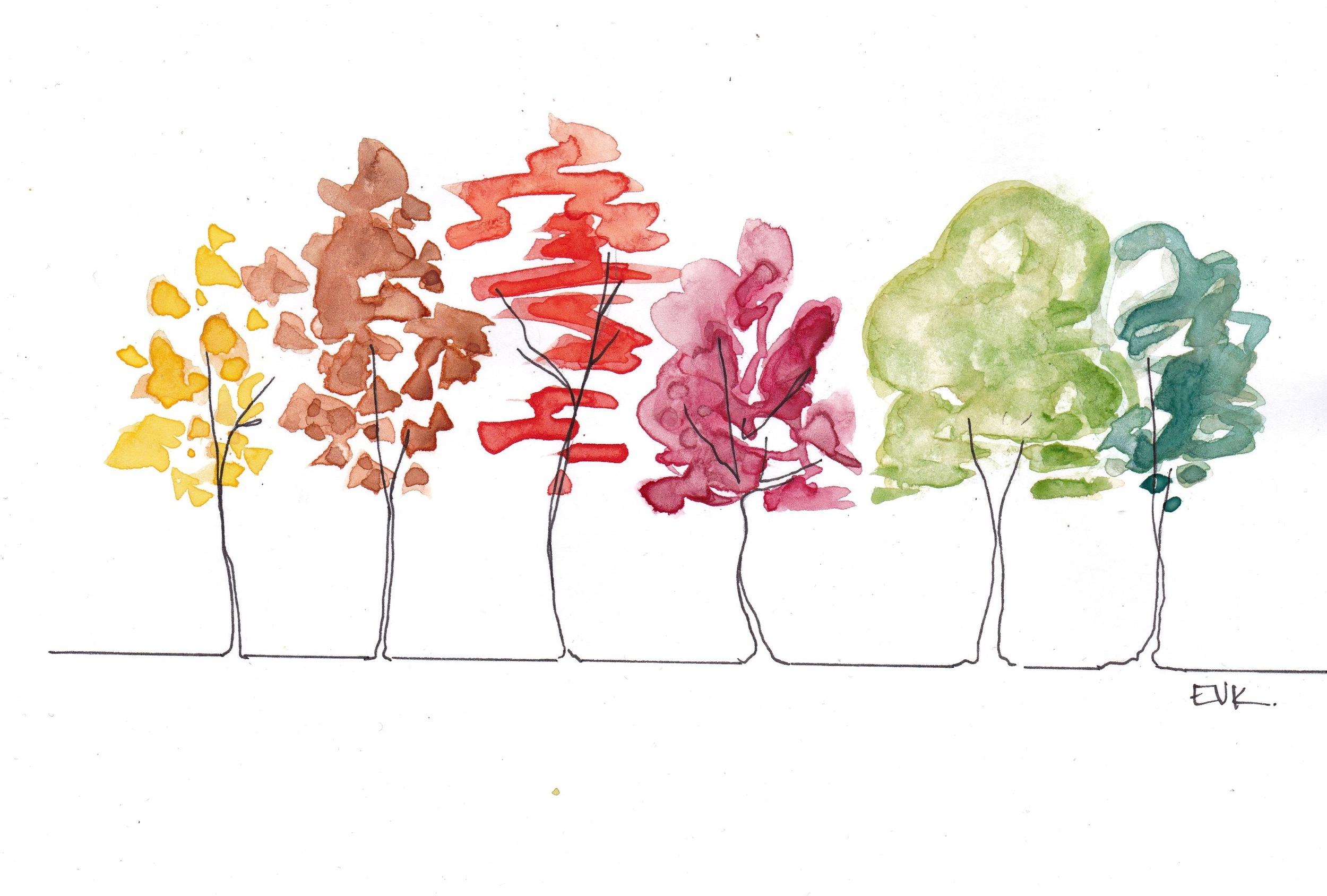 """""""Abstract Autumn Trees"""""""