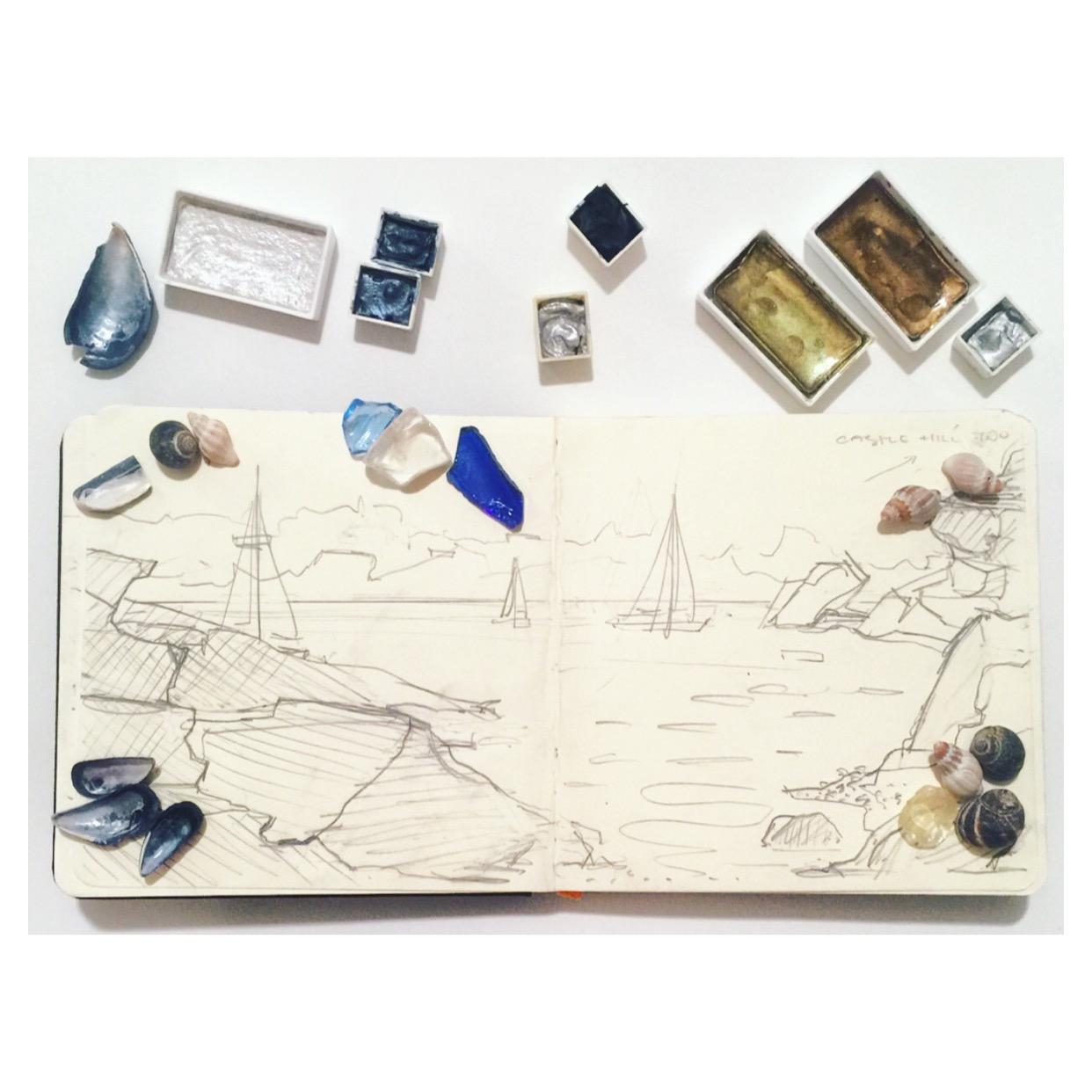 sketchbookandseaglassnewport2016