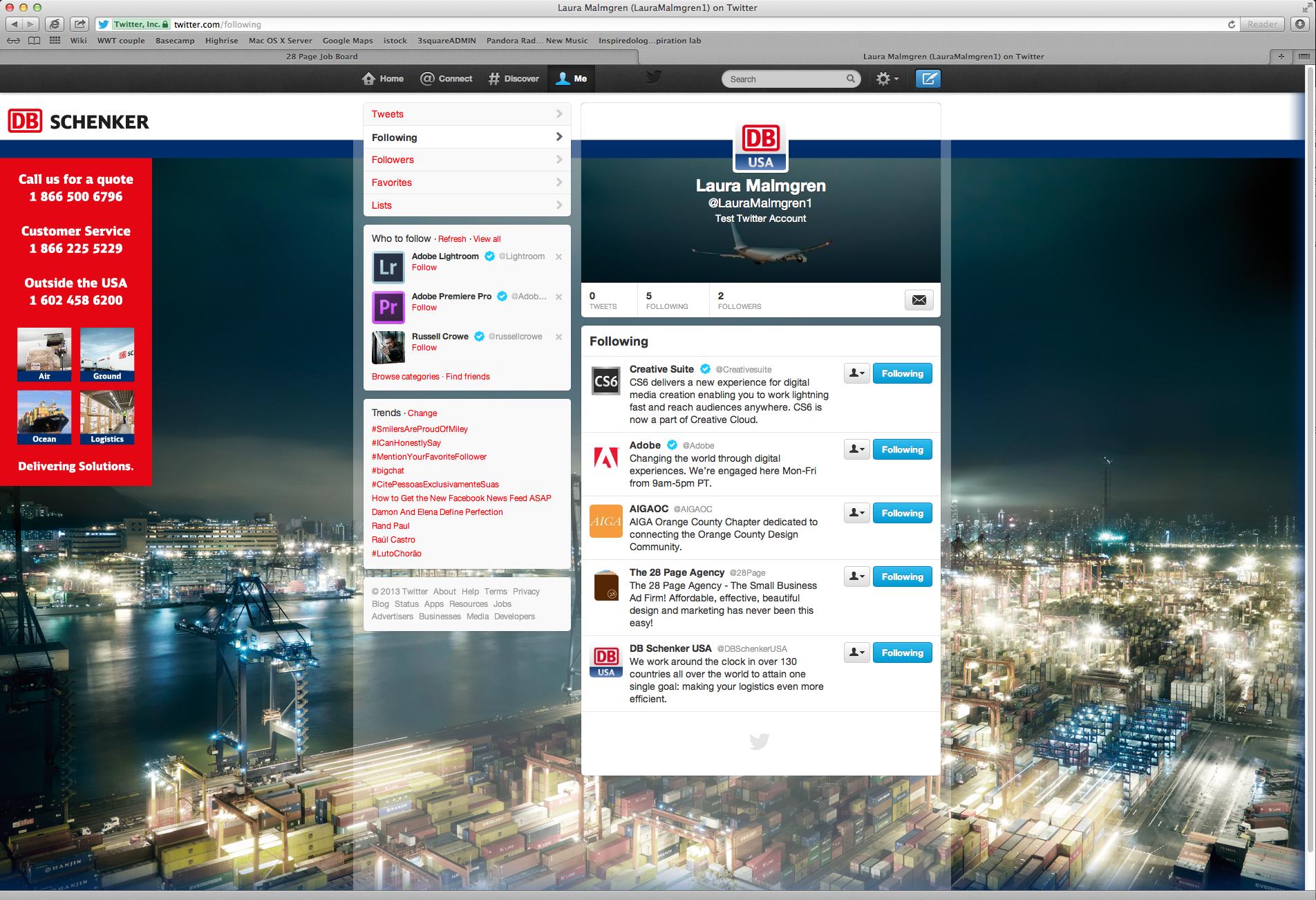DB Schenker USA Twitter Background and Header