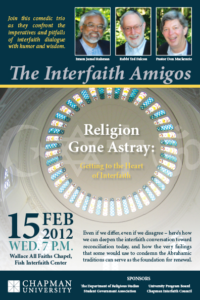 The Interfaith Amigos Special Event Poster