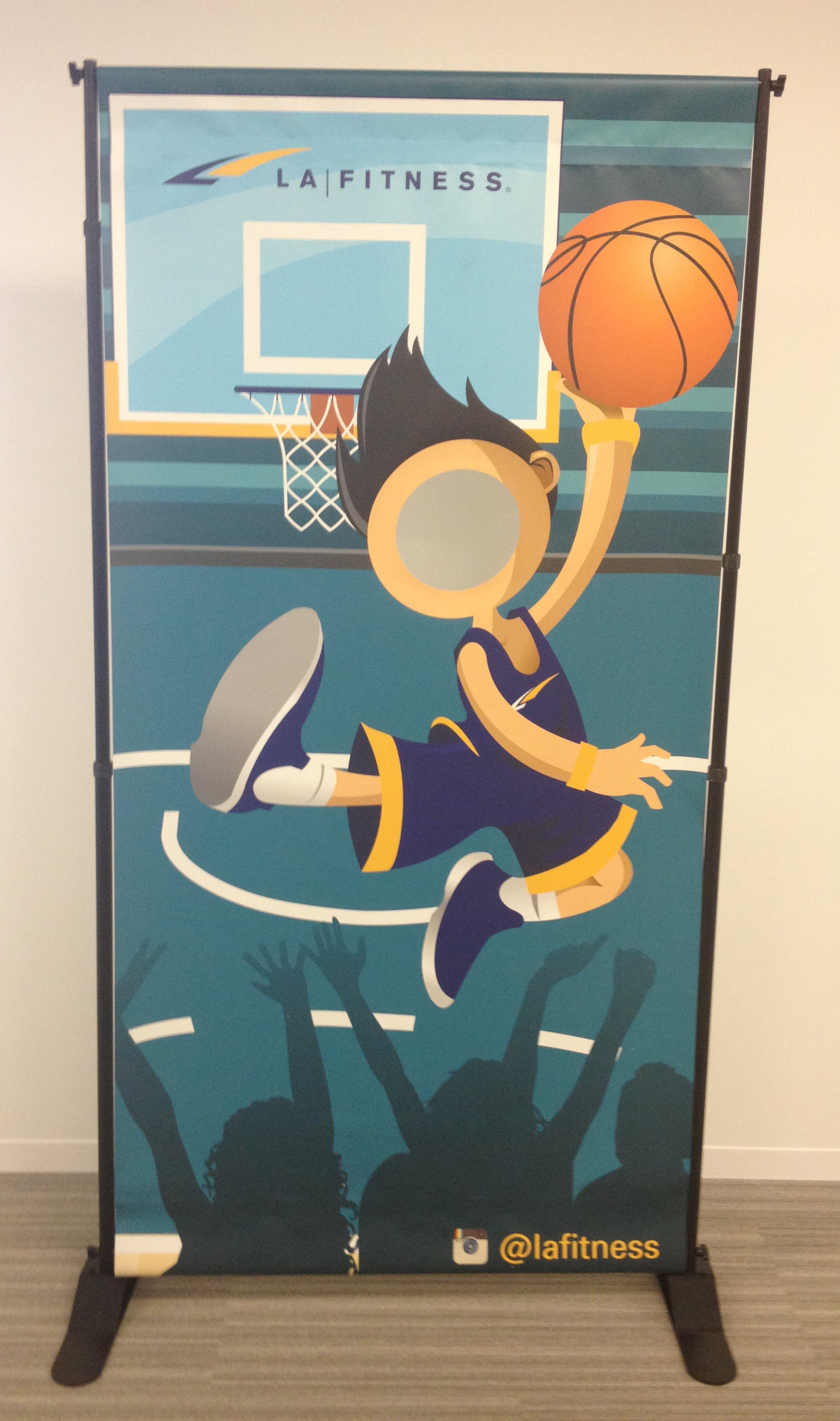 LA Fitness Special Event Photo Cut-out