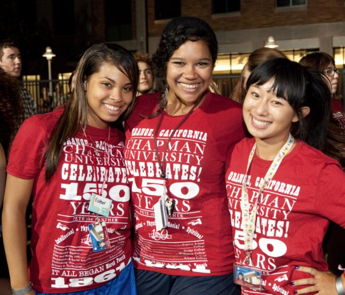 Chapman University 150th Anniversary T-shirts
