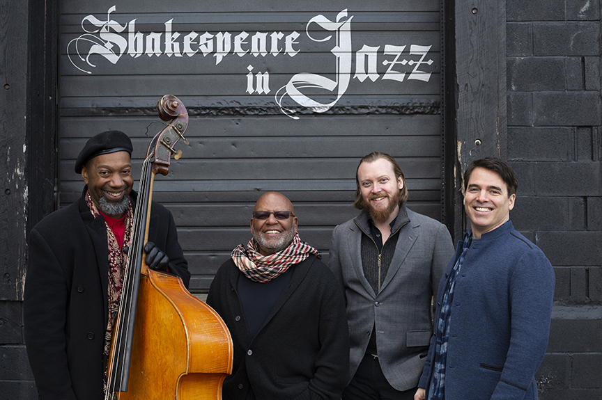 Click to download:  Shakespeare in Jazz (quartet) 02 - high resolution   Shakespeare in Jazz (quartet) 02 - low resolution  Photo credit - Flynn Larsen
