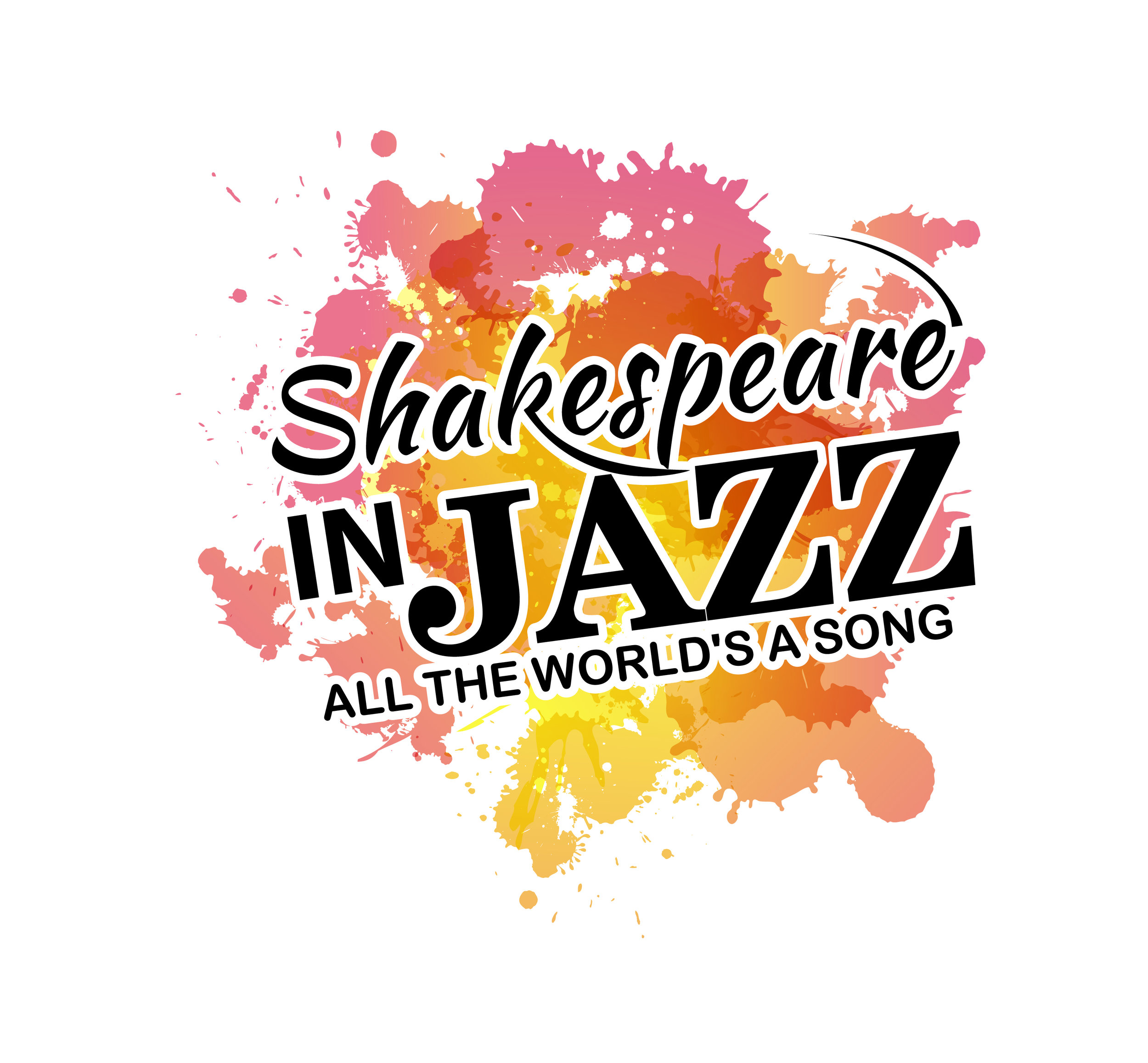 Click to download:  Shakespeare in Jazz LOGO with tagline - high resolution