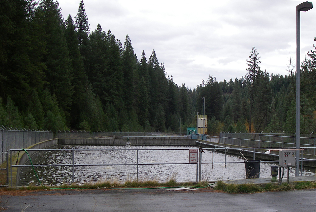 Even small towns often have wastewater treatment plants; this one serves a rural community of less than 1,000 people.  (Image by Emily Benson)