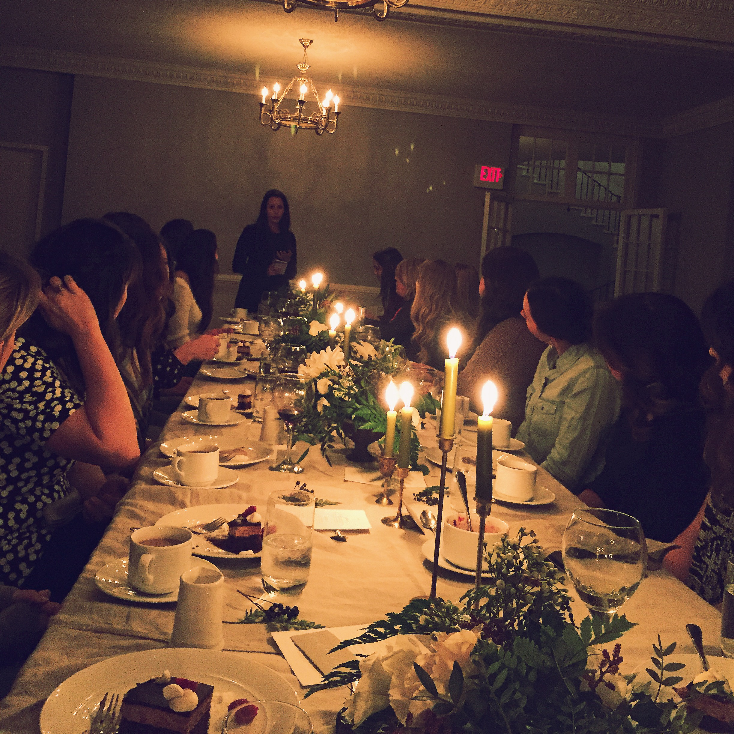 The lovely Shanna addressing our group at the welcome dinner