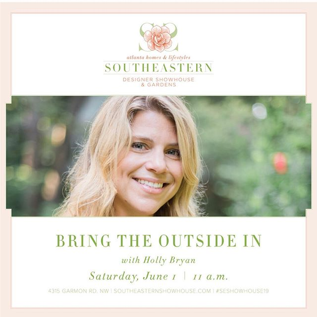 "Come out to the Atlanta Homes & Lifestyles Southeastern Designer Showhouse & Gardens this Saturday! I'll be doing a floral foam-free demonstration using materials foraged 🌱🌿from these historic grounds and from my own garden. Check out my stories for a video of the loveliness that is the original ""Buckhead pool""- it was once part of the 1920's hunting grounds and weekend retreat of the Joseph Madison High family (as in, High Museum🙌) #nofloralfoam #foamfree @atlantahomesmag @southeasternshowhouse"