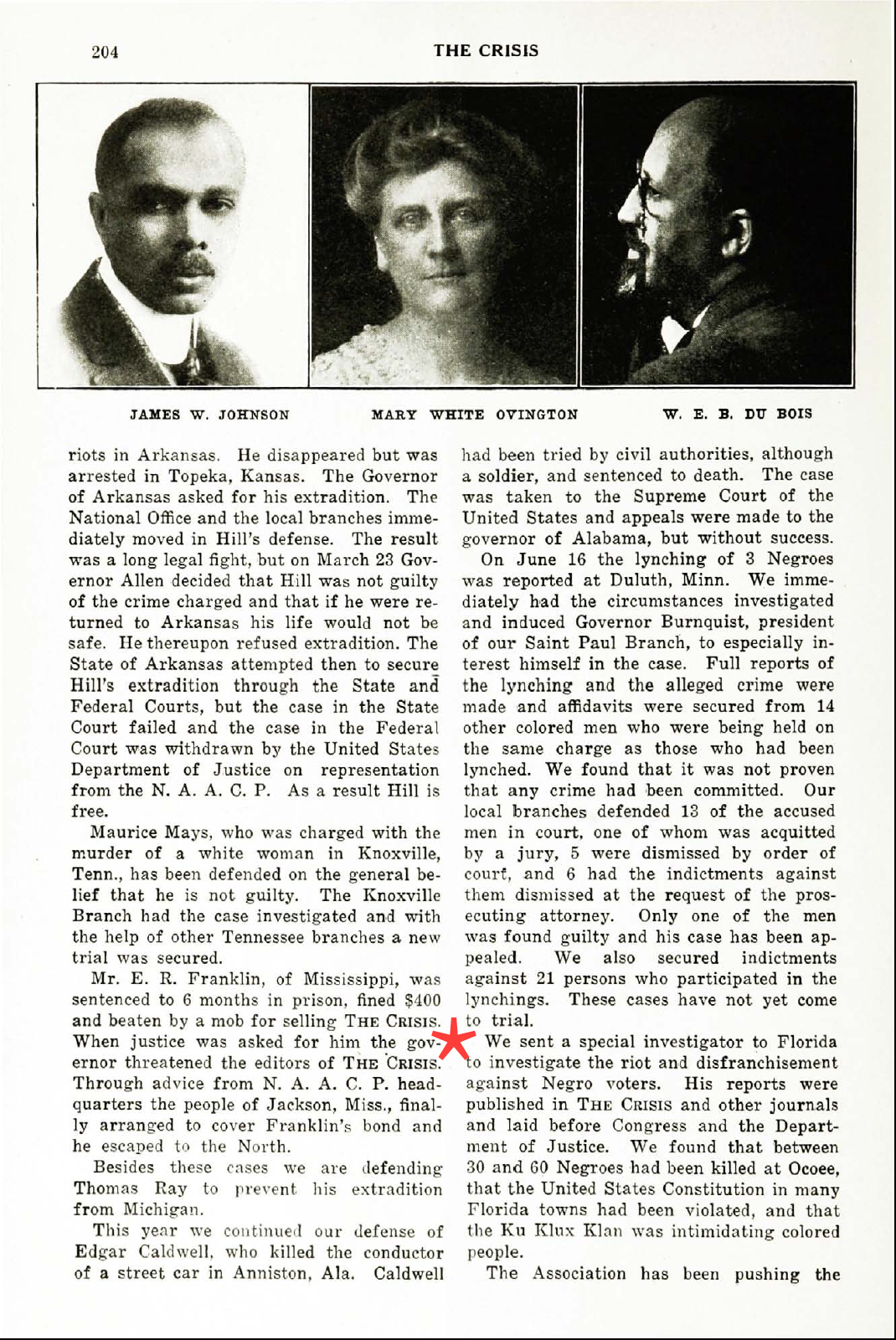 The Crisis, March 1921.