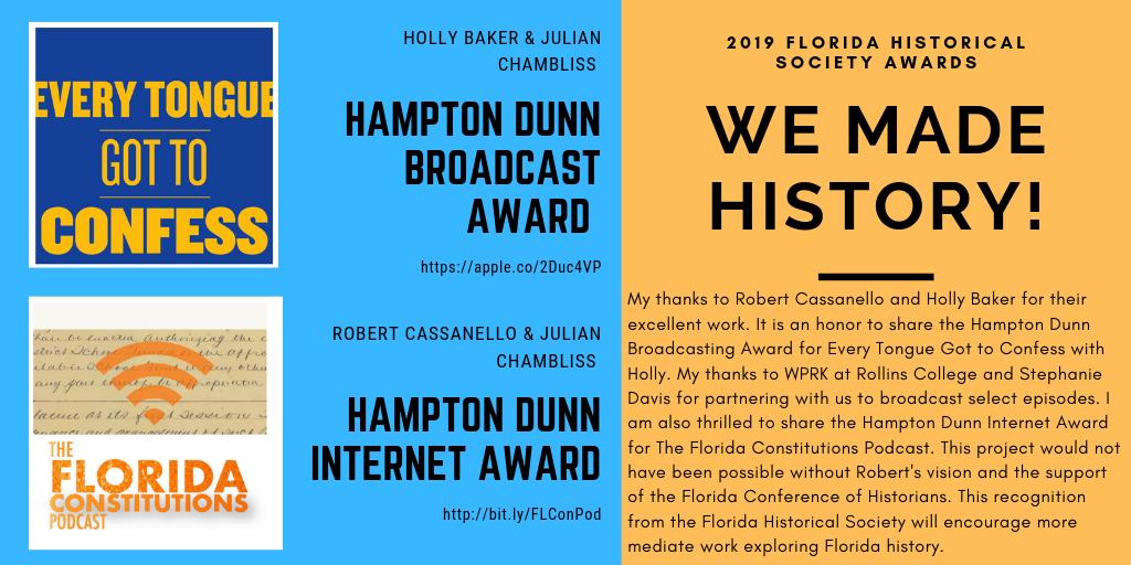 2019 Florida Historical Society Awards