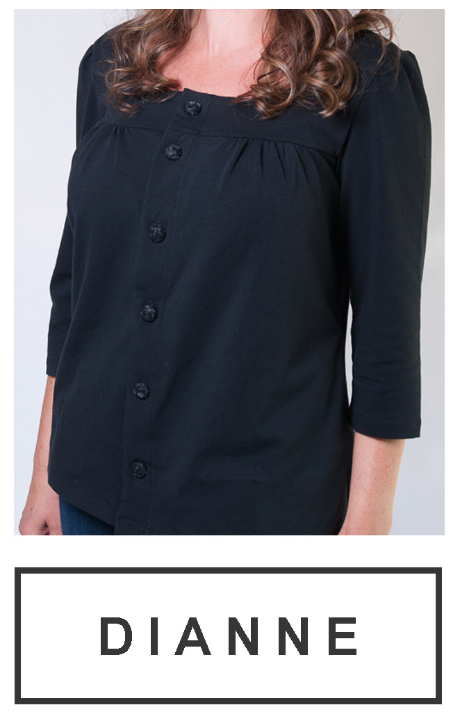 Our long-sleeve button-up top $69.95
