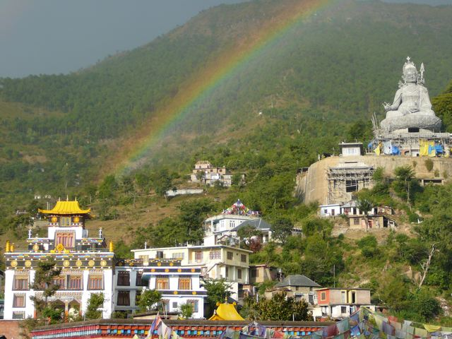 Rainbow over Tso Pema
