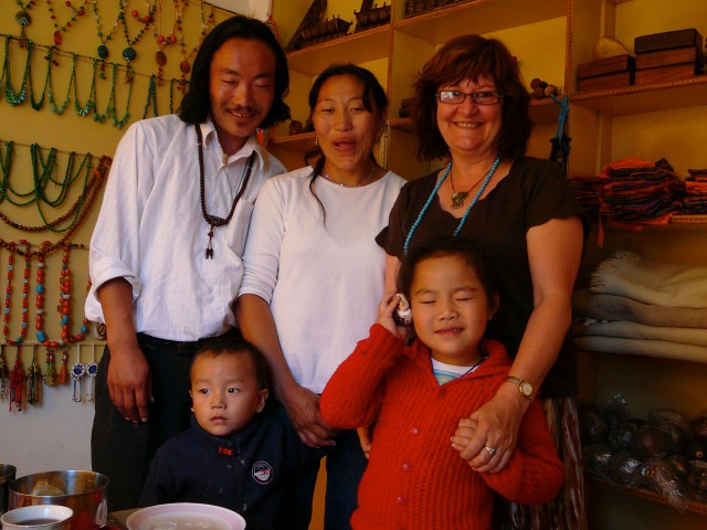 Helen with Tenzin Paldon and her family 2007