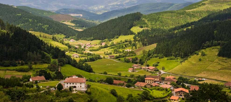 Basque Country, idyllic, like most European places from which tasty things come.