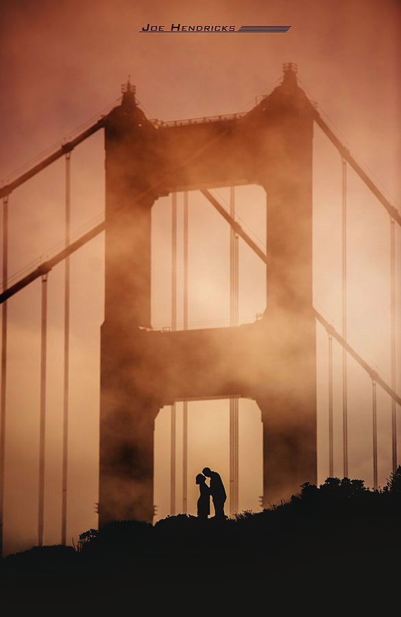 San Francisco Golden Gate Bride at Sunset - engagement photo