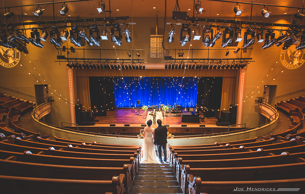 The Bride and Groom get a private concert at the Ryman!