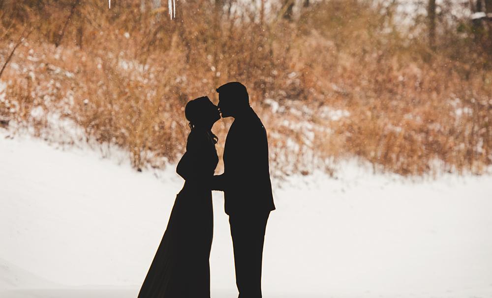 silhouette in the snow, in Nashville TN
