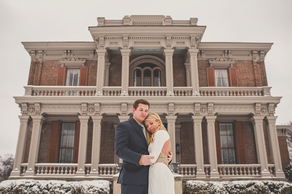 two rivers mansion in the snow