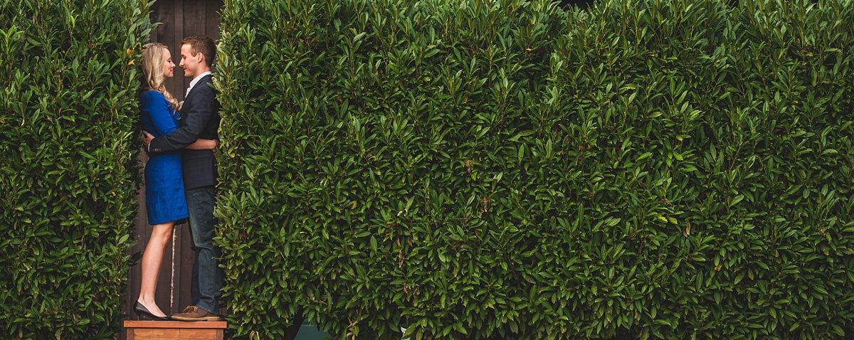 between the hedges