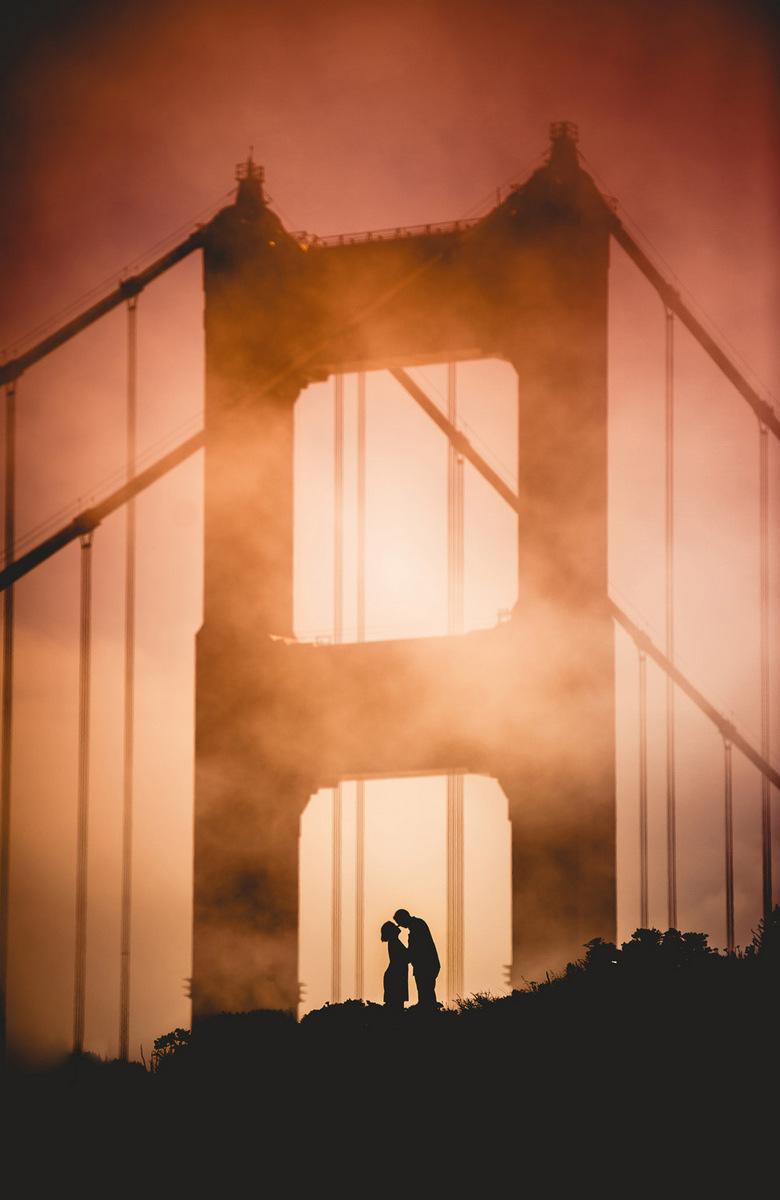 golden gate bridge silhouette