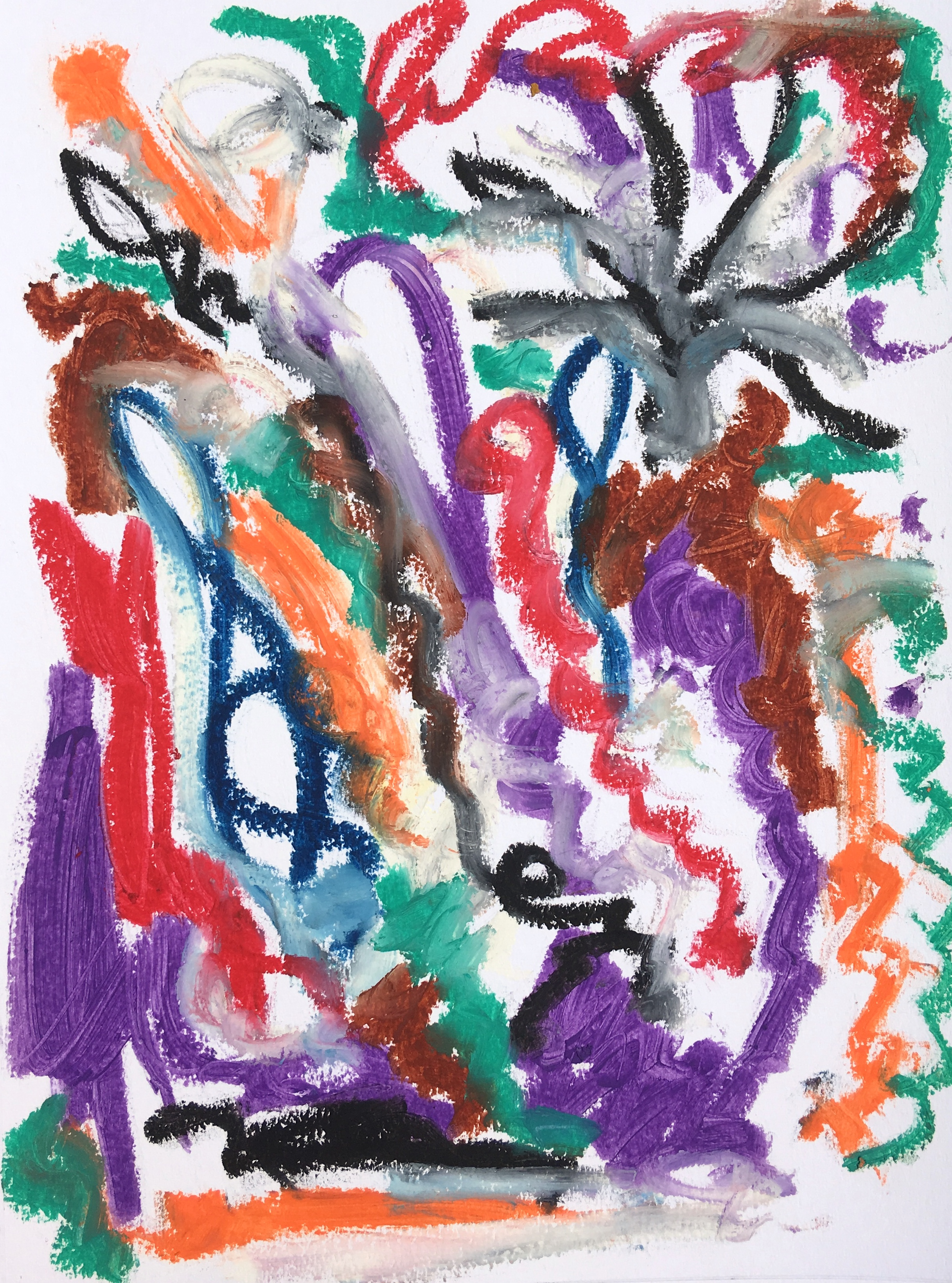 "oil stick on paper 11"" x 14"""
