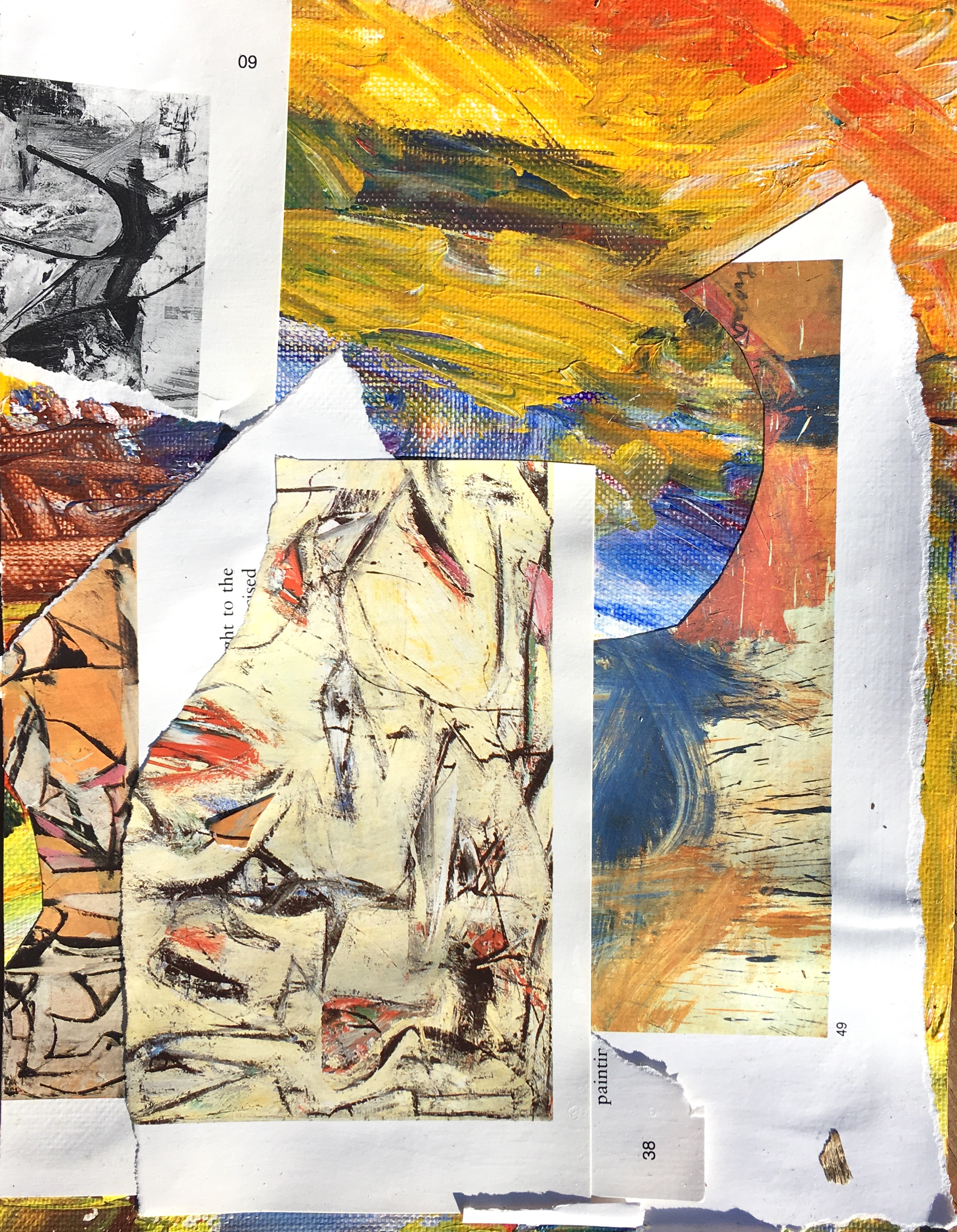 """collage on paper 4.5"""" x 6"""""""