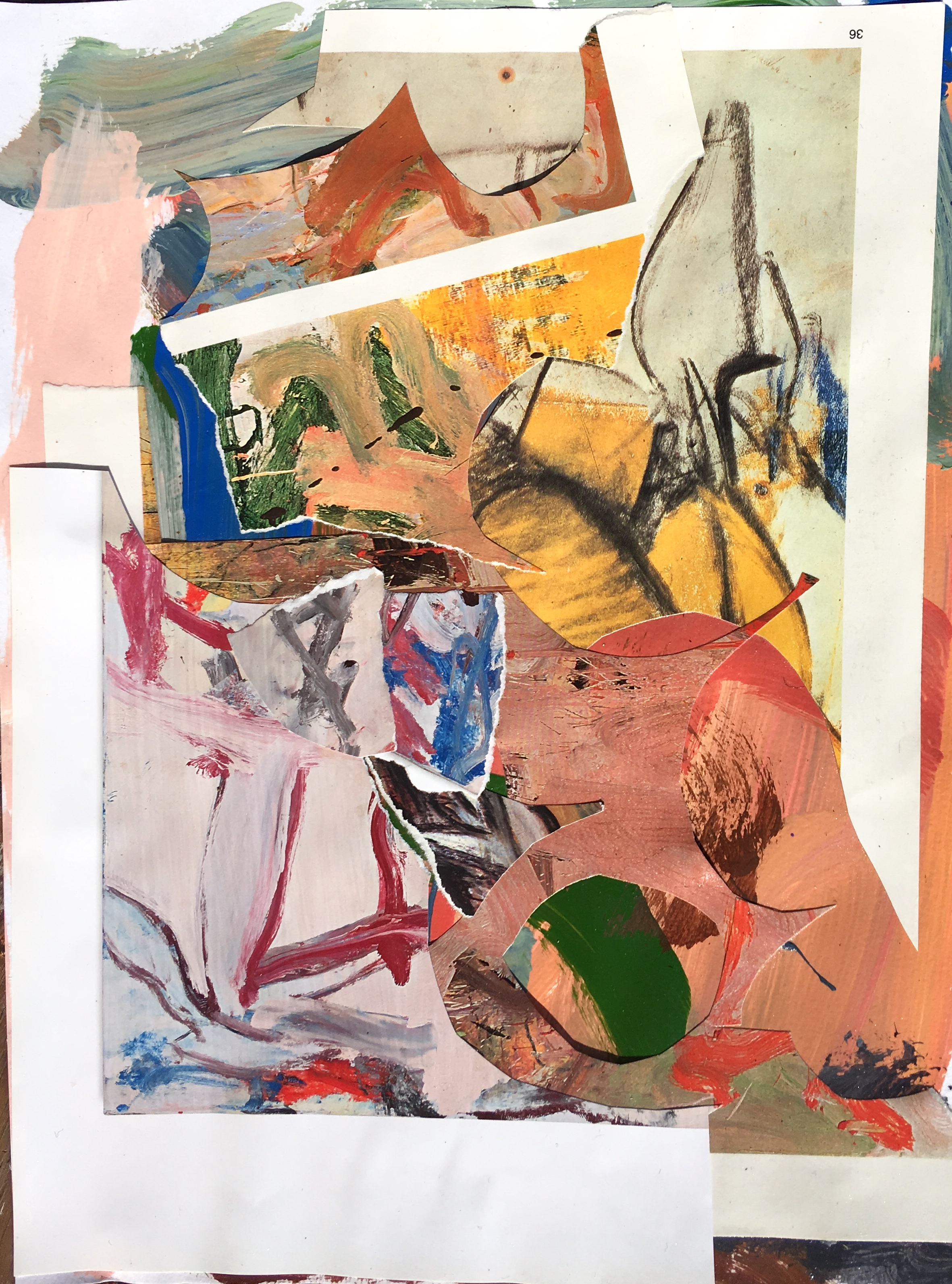 """collage and acrylic on paper 9"""" x 12"""""""
