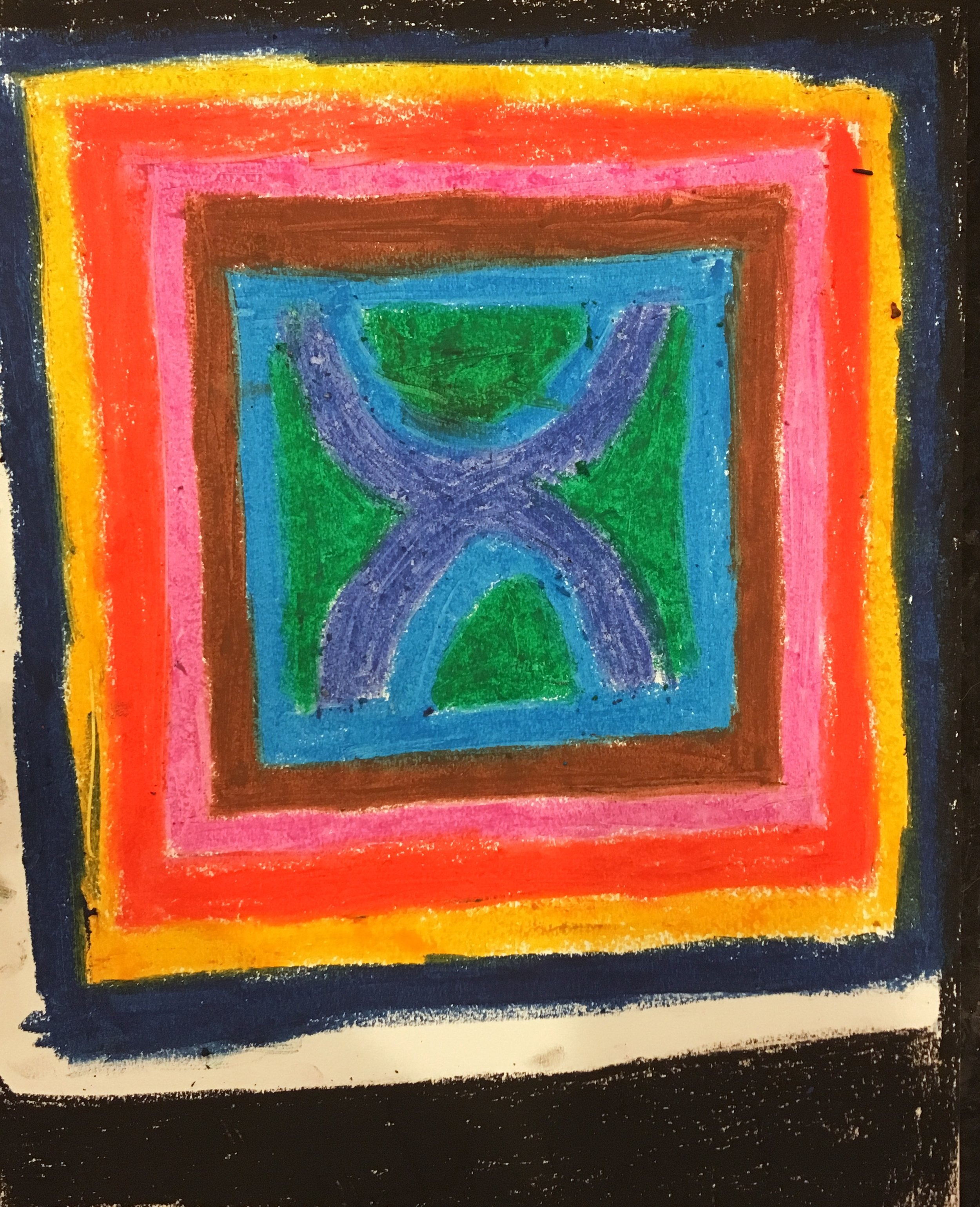 "oil pastel on paper 11"" x 14"""