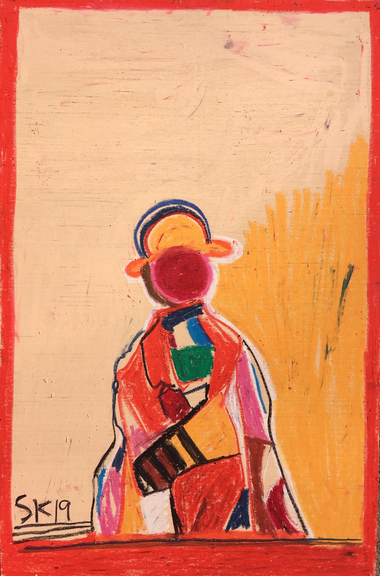 """oil pastel on wood 16"""" x 24"""""""