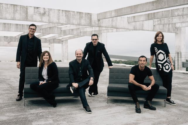 (From l.) Leo Peet, VP-director of finance; Angela Battistini, senior VP-account services; Isaac Mizrahi, co-president and chief operating officer; Luis Miguel Messianu, creative chairman and CEO; Alvar Suñol, co-president and chief creative officer; Michelle Headley, senior VP-operations. Credit: Marco Arguello