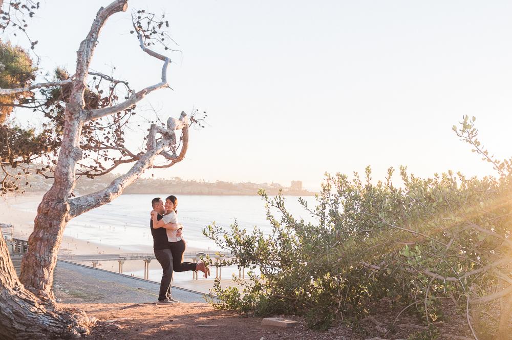 engagement at la jolla beach natural