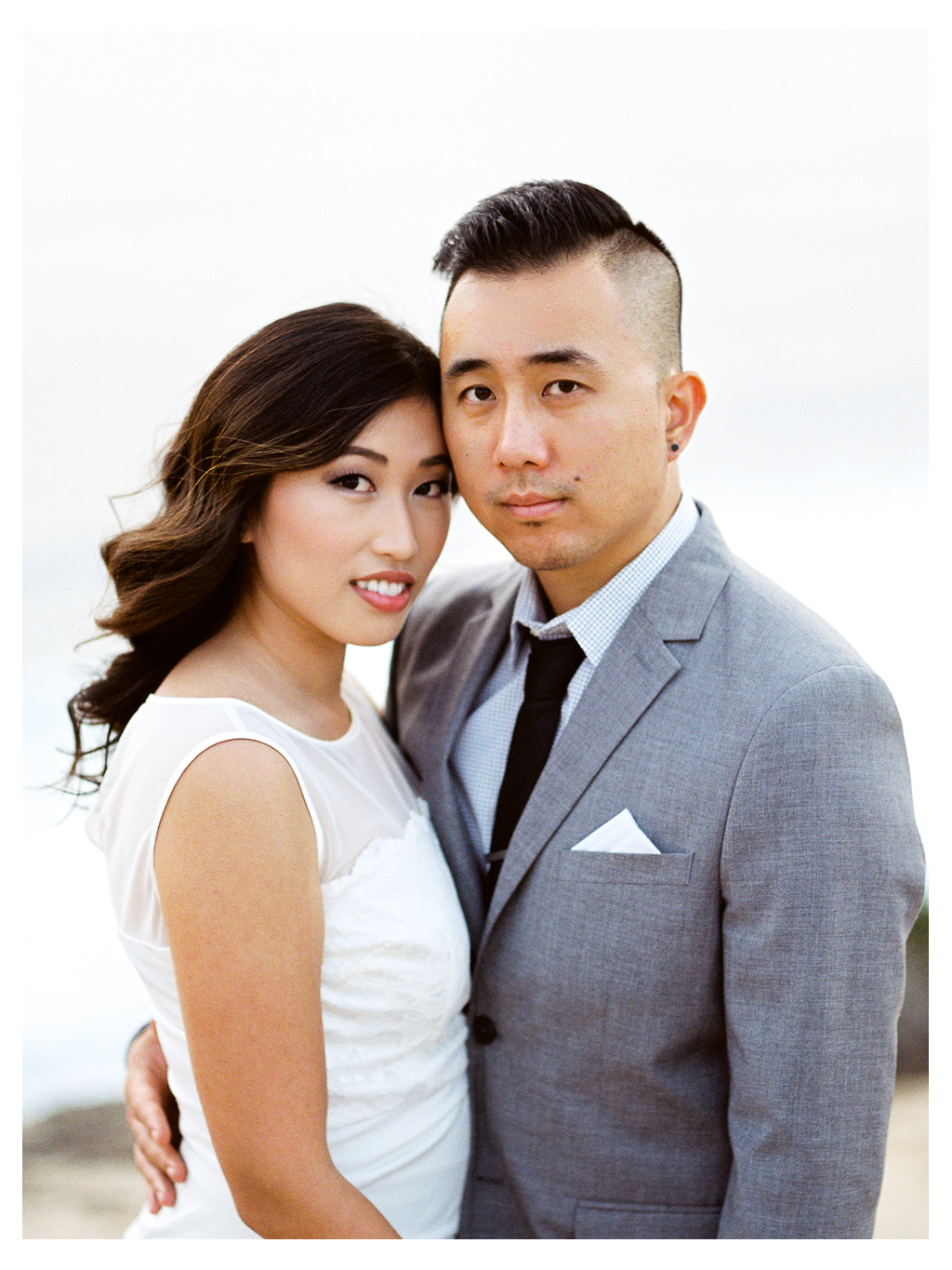Couple engagement session San Diego La Jolla Cliffs Oceanview