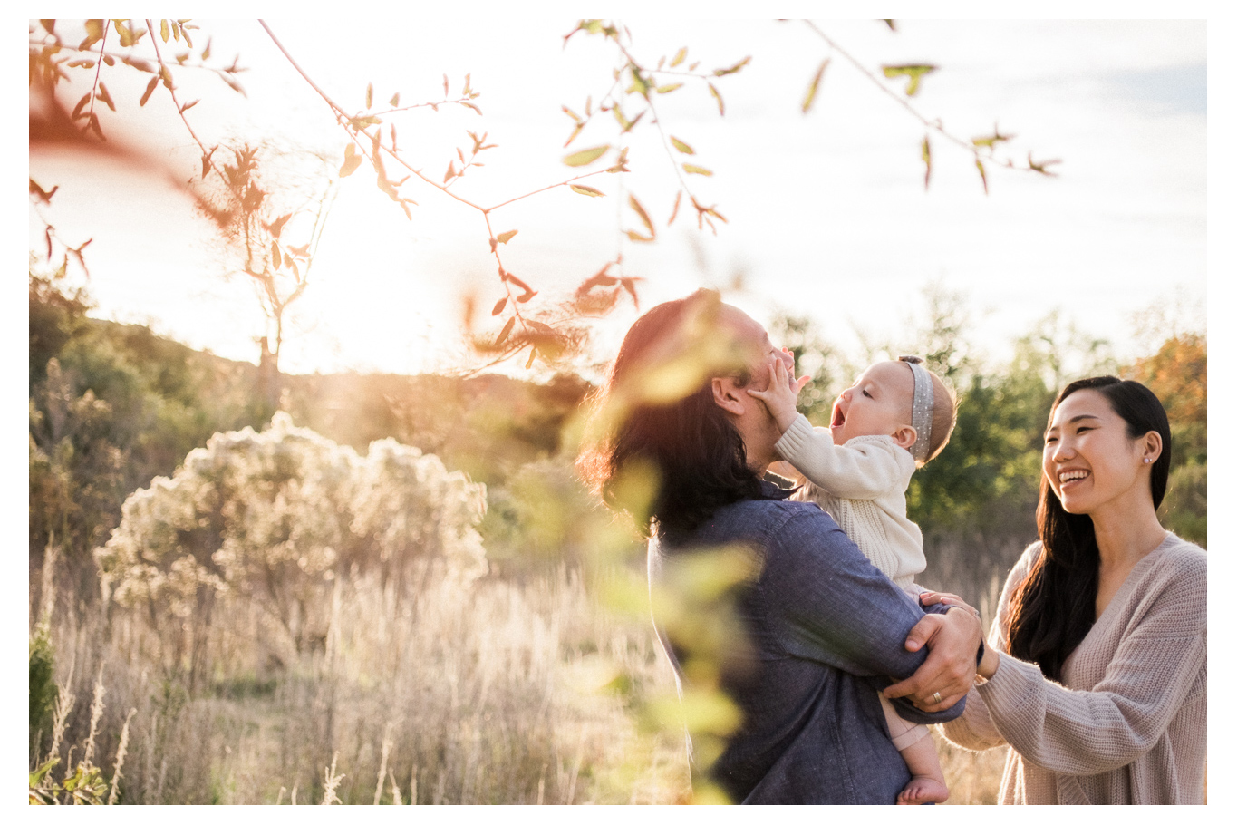 family fun outdoor session mom and baby one year old los penasquitos canyon preserve san diego portraits