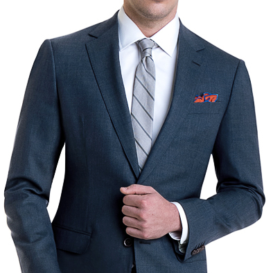 Black Lapel Baltic Blue Custom Fresco Suit