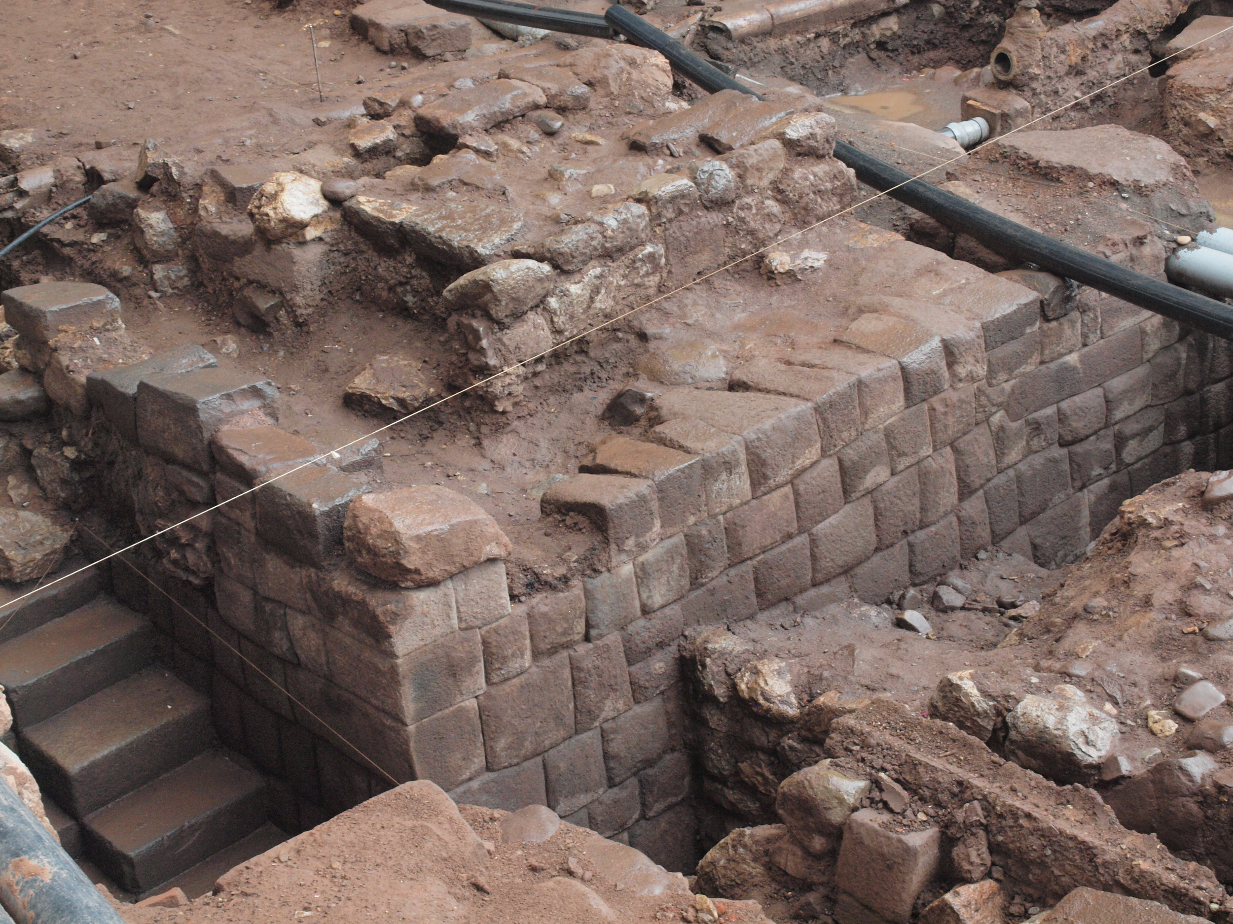 Main street ruins in Cuzco