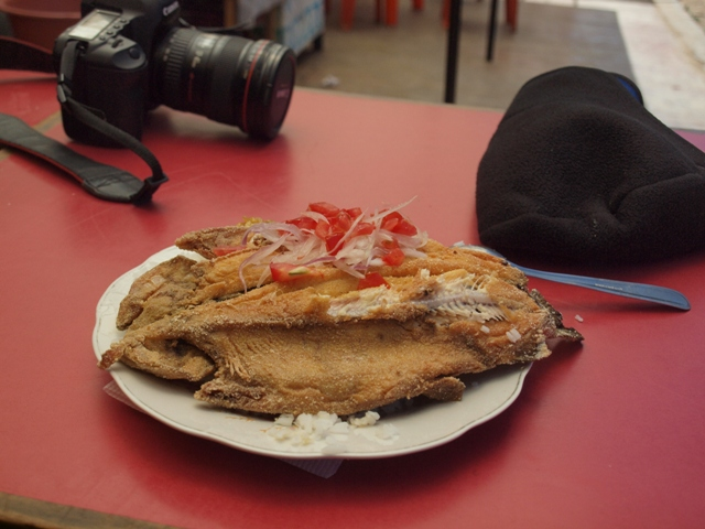 Lake Titicaca trout....perhaps the best I've ever had!