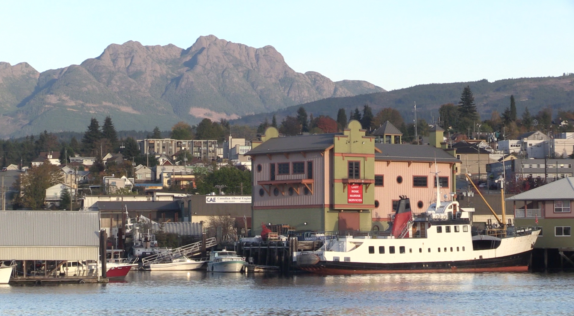 The Francis Barkley with Mount Arrowsmith in the background