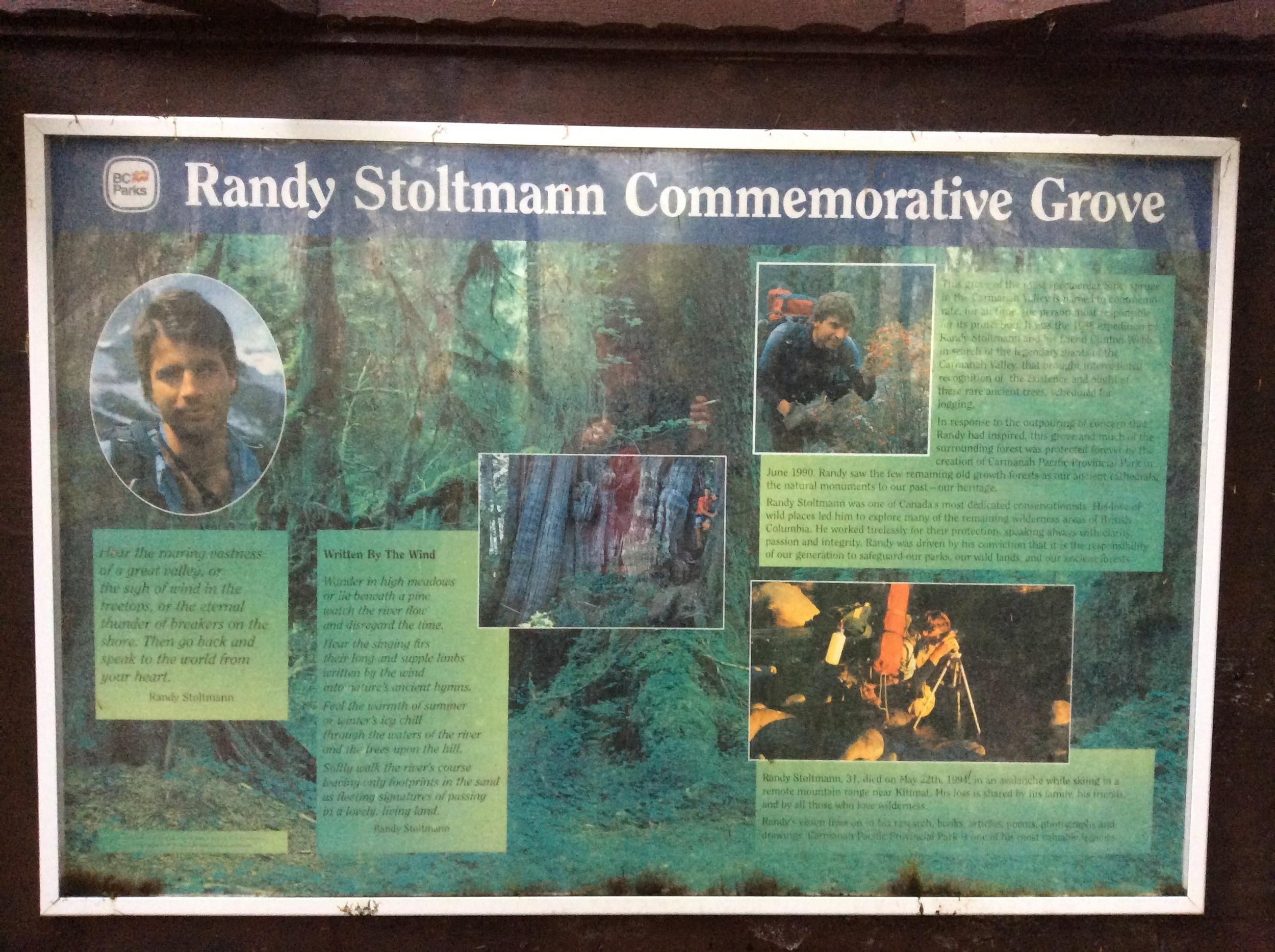 Randy Stoltmann, what a story