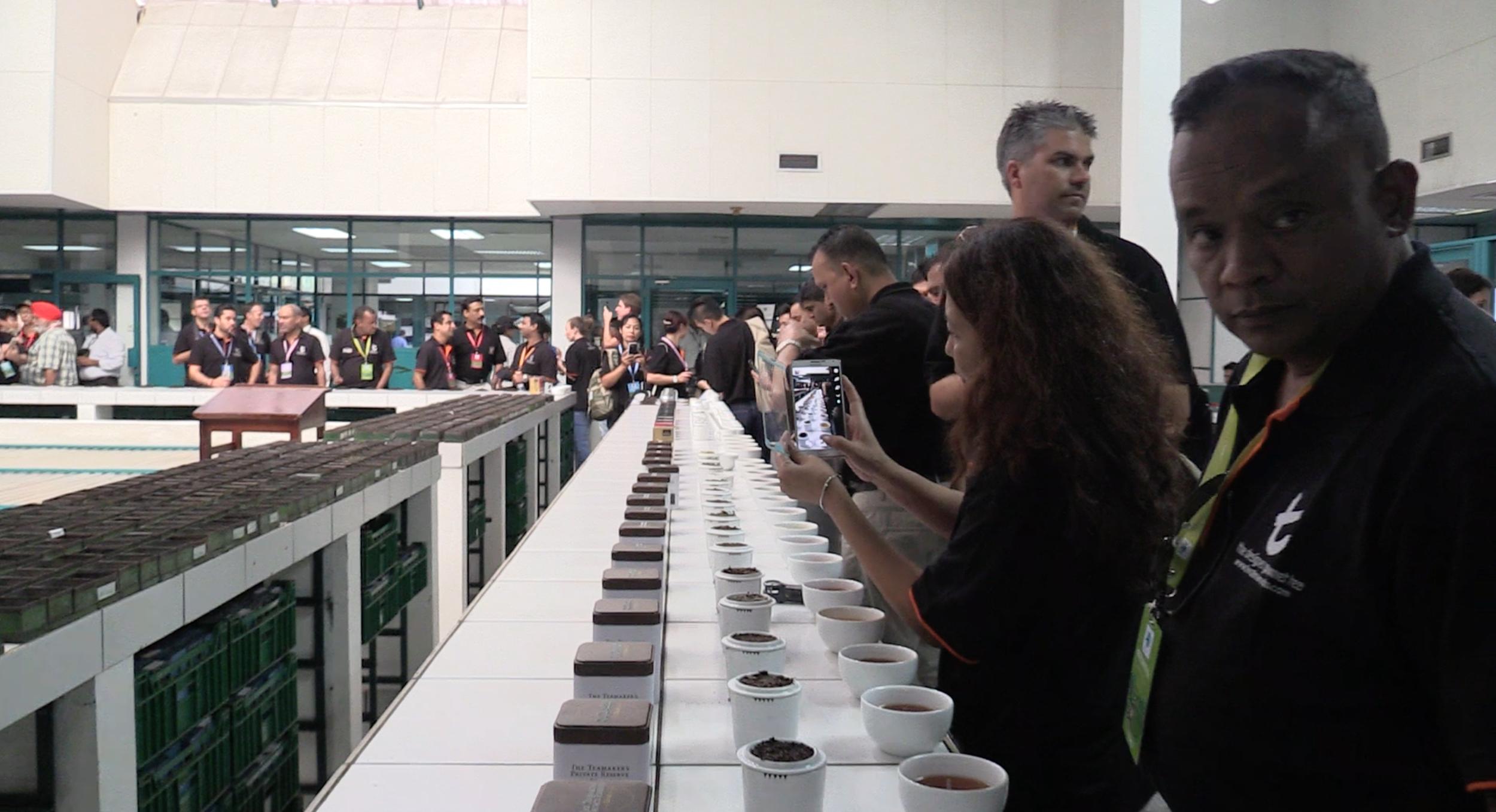 Various teas on display