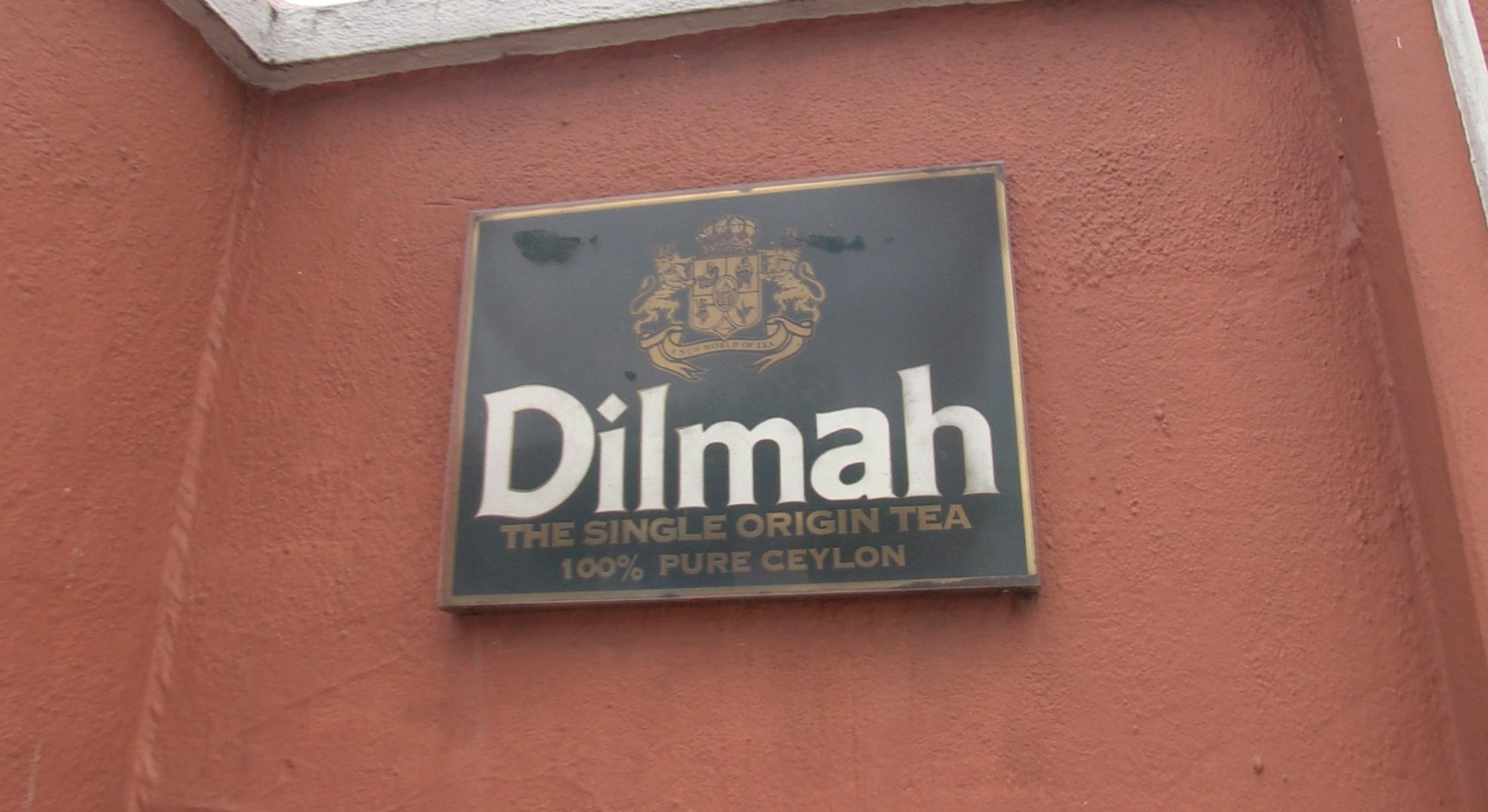 Outside Dilmah head office in Colombo