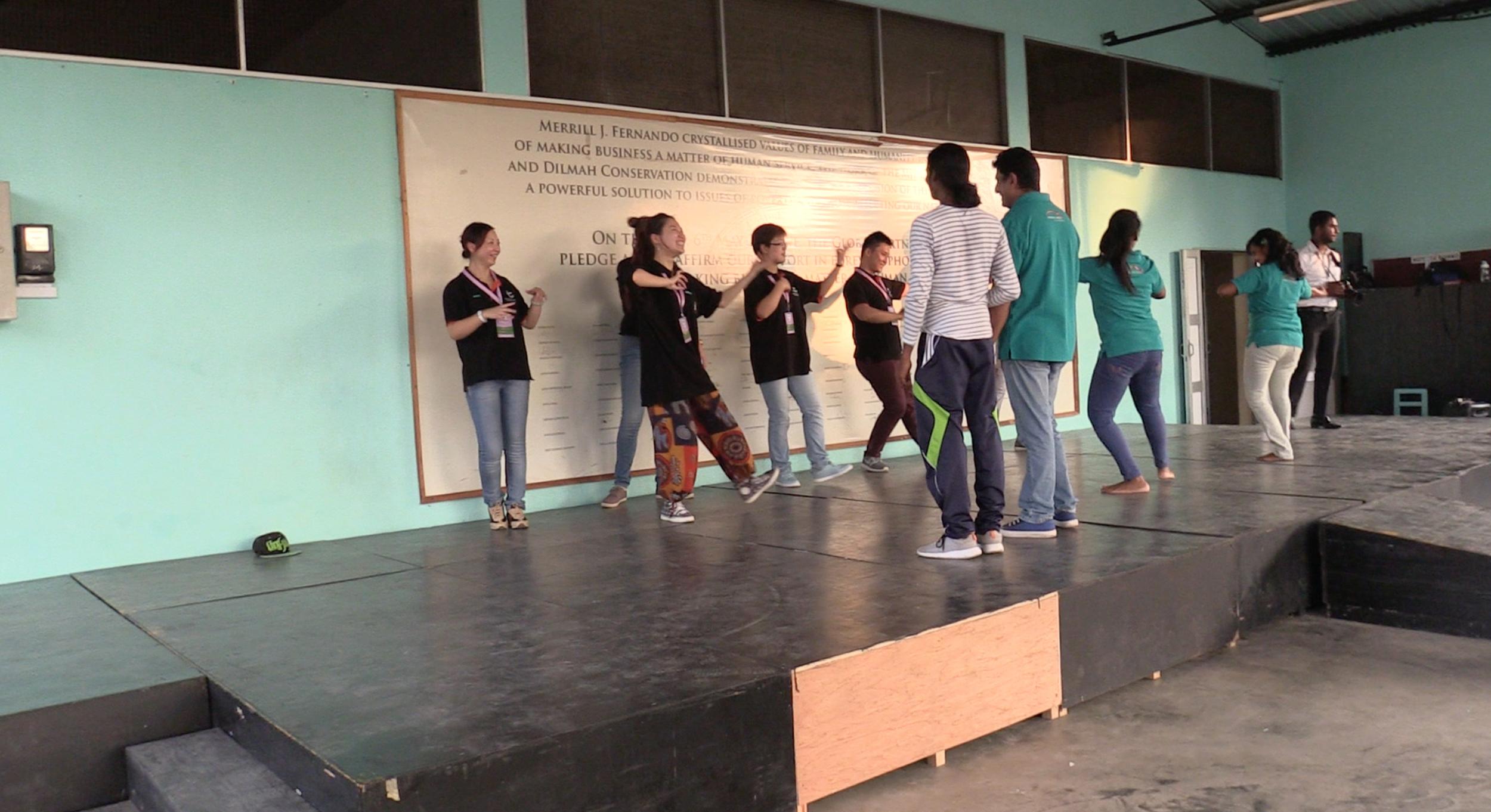 Dancing class at MJF