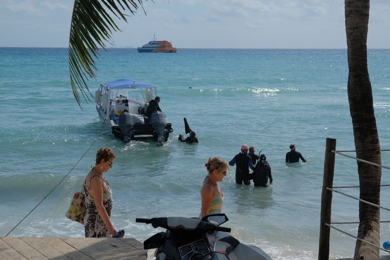 Divers leaving for a dive